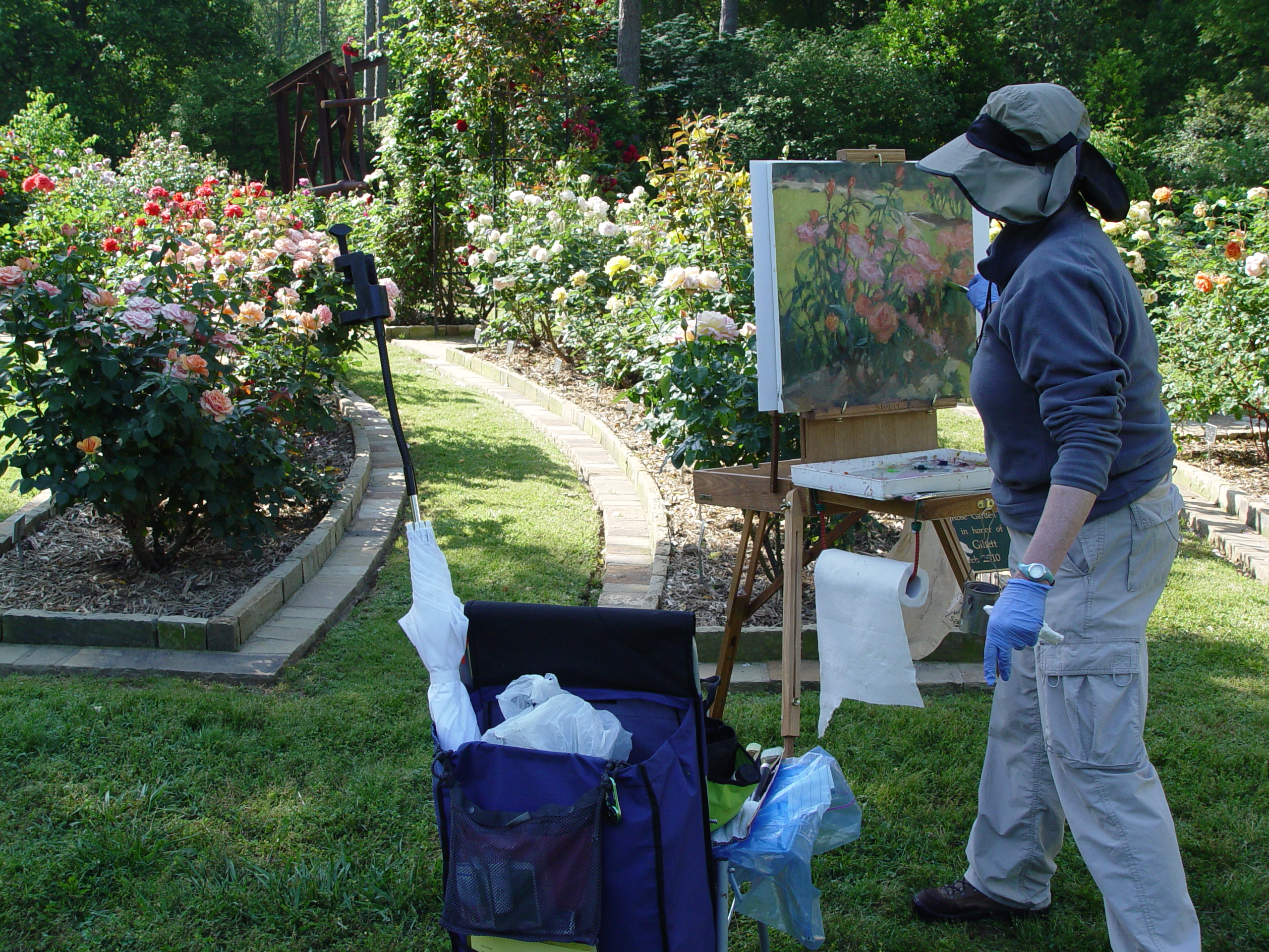 Plein-Air-rose-garden