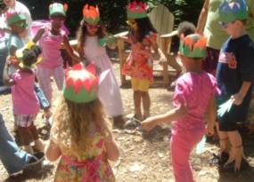 """Birthday Celebrants Perform the   """"Plant Part Pokey"""""""