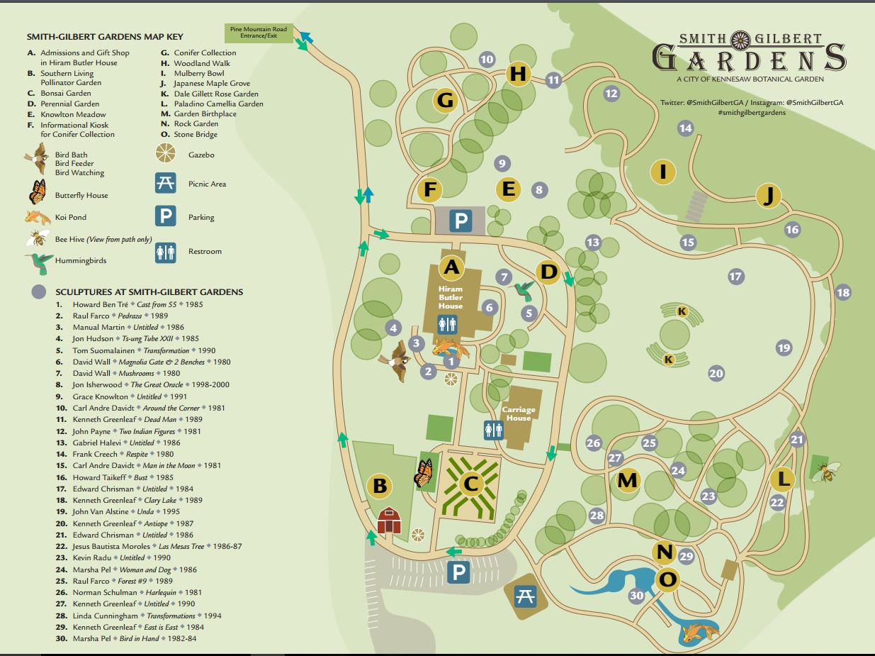 Map Of Georgia Kennesaw.At The Gardens Smith Gilbert Gardens