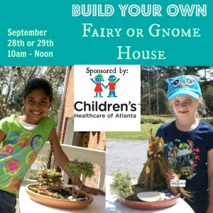 Build Your Own: Gnome or Fairy House @ Smith-Gilbert Gardens | Kennesaw | Georgia | United States