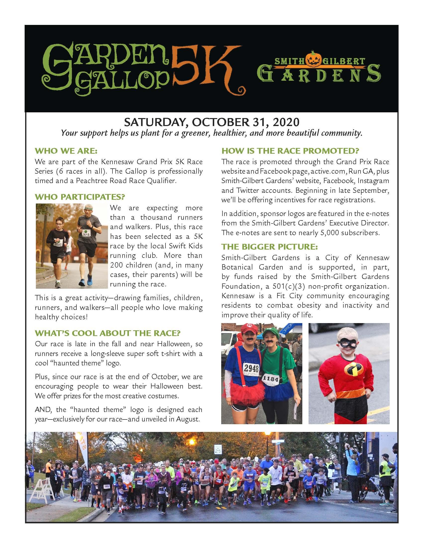 Garden Gallop info sheet