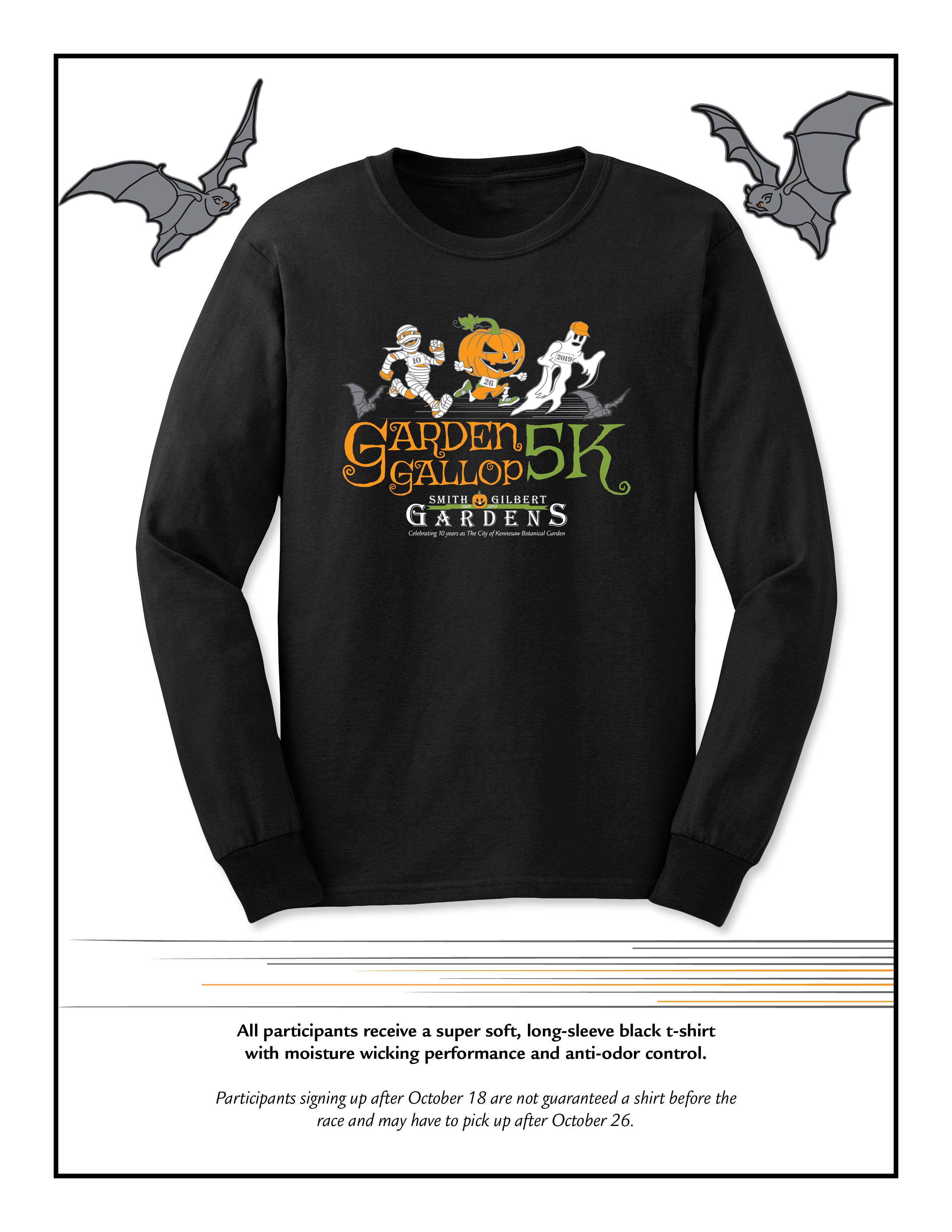 Garden Gallop 5k race shirt