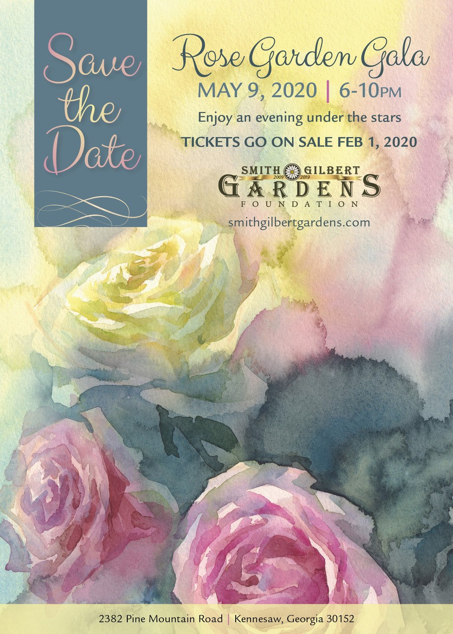 save the date for Rose Garden Gala 2020