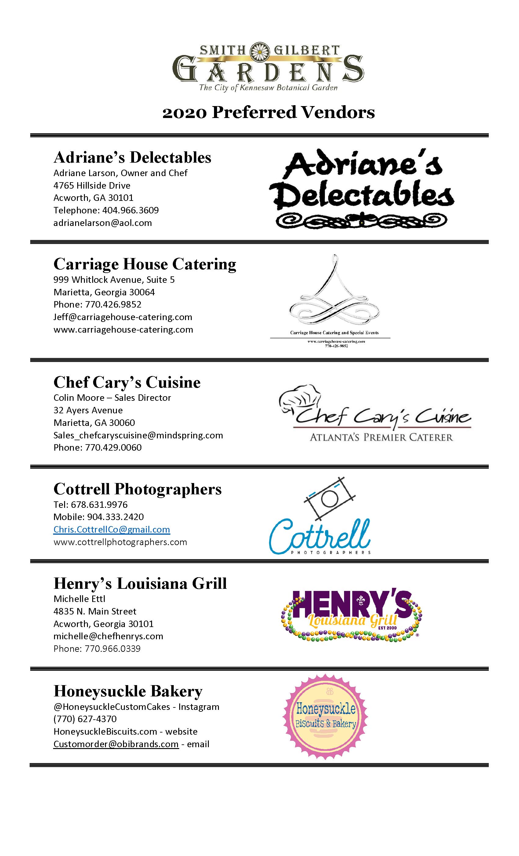 preferred vendor list page 1